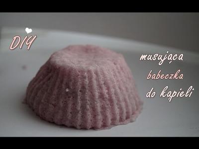 ♔ DIY ♔ Jak zrobić malinową musującą babeczkę do kąpieli