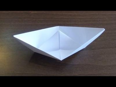 Łódka z papieru - Origami #2 (Paper boat)