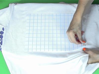 Zrób to Sama - koszulka z nadrukiem - Jak przerobić T-shirt [Coza Szycie]