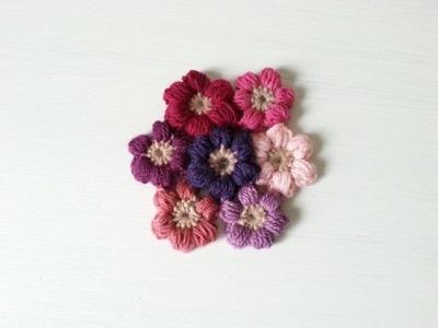 KWIATKI Z PĘCZKÓW NA SZYDEŁKU JAK ZROBIĆ puff flower