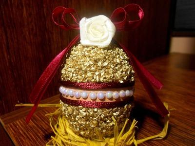 Wielkanocna pisanka z kaszy