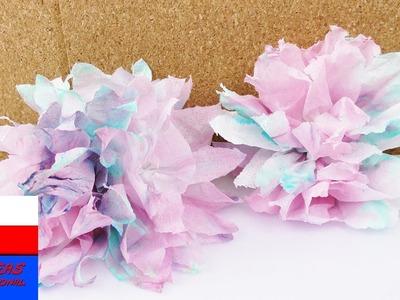 Eksperyment z chusteczką do nos | kolorowe kwiaty z pofarbowanej chusteczki