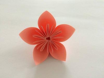 Kwiaty wiśni z papieru - jak zrobić origami z papieru po polsku
