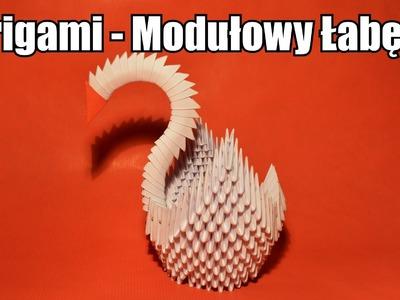 Origami - Modułowy Łabędź