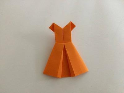 Sukienka z papieru - jak zrobić origami z papieru po polsku