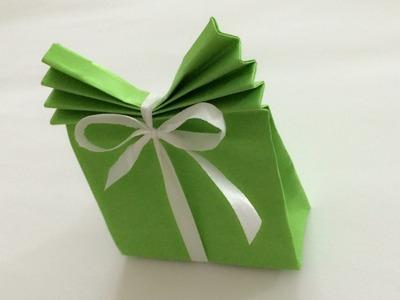 Torebki na prezenty proste origami z papieru po polsku