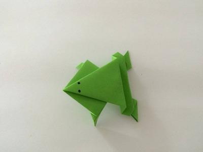 Żaba z papieru  jak zrobić origami z papieru po polsku