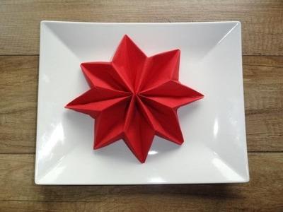Gwiazda betlejemska - składanie serwetki. dekoracja stołu