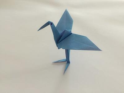 Jak zrobić bocian z papieru  - krok po kroku po polsku