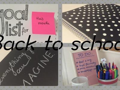 Back to school : DIY - organizcja. przybory szkolne