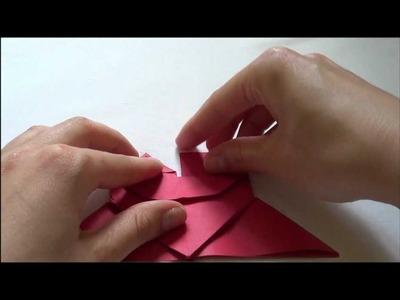 Orgiami heart bookmark (zakładka z sercem origami)