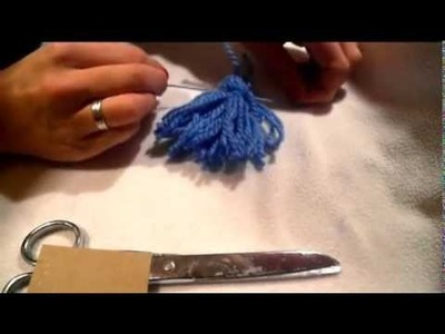 Jak zrobić pompon, frędzel , chwost. how to make pom poms. frędzle. DIY