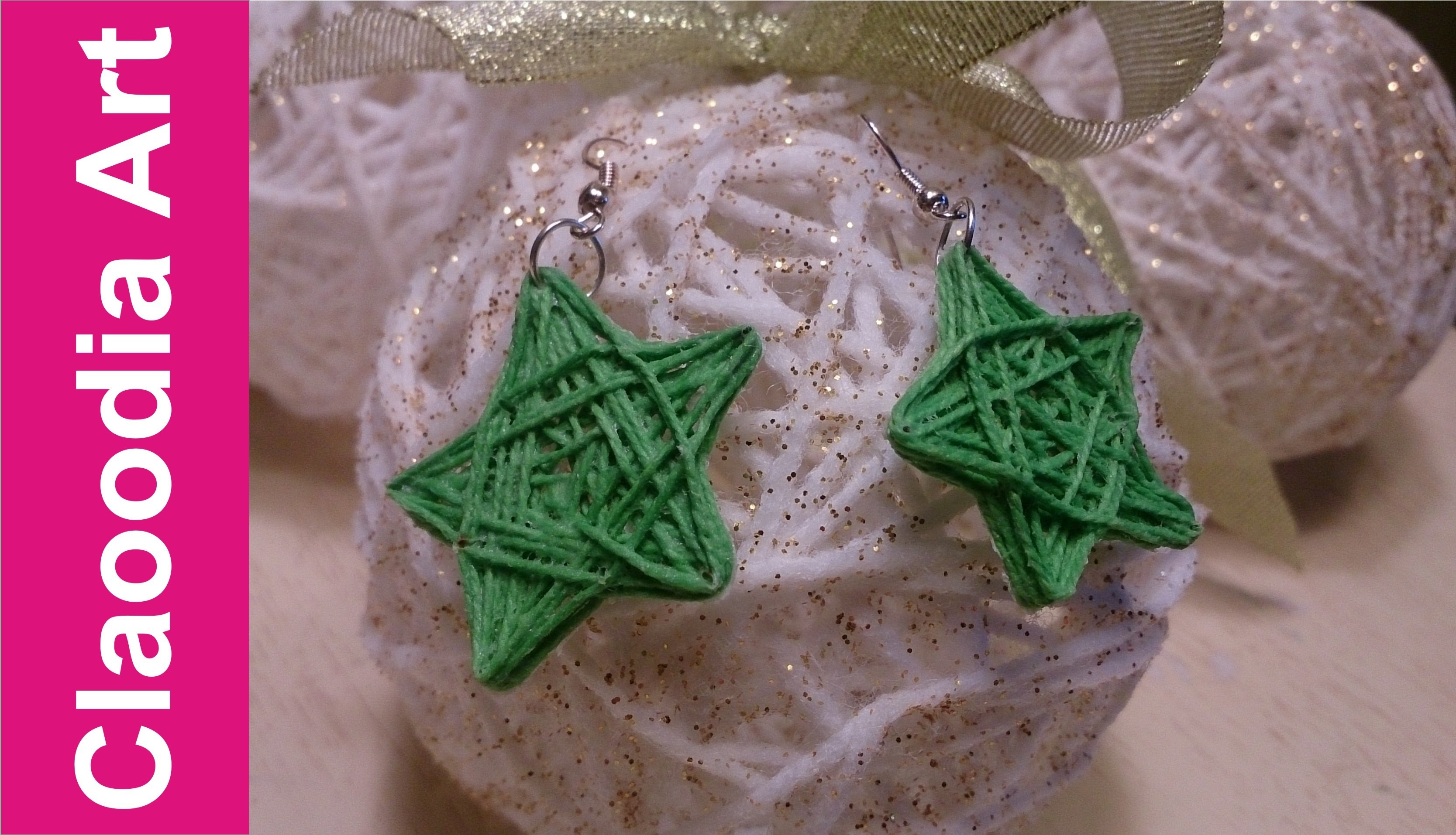 Kolczyki gwiazdki (DIY, earrings, stars)