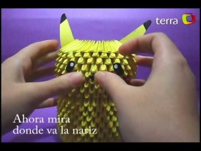 Pikachu Origami 3D Tutorial