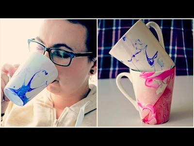 WATER MARBLED MUGS ♥ KUBKI DIY