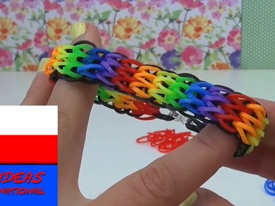 Rainbow loom bransoletki po polsku - Bransoletka Triple Single Loom bands