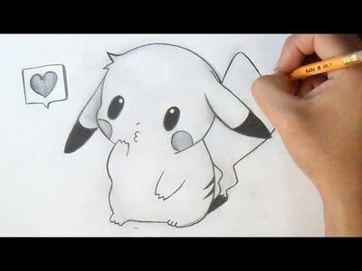 Cómo dibujar Chibi Pikachu | How to Draw Chibi - Pikachu Anime