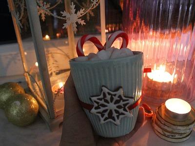 Świeca czekolada święta DIY. christmas candle hot chocolate DIY