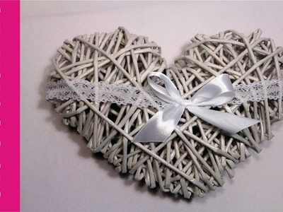 Walentynkowe serce z papierowej wikliny krok po kroku (heart, paper wicker)
