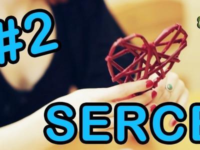 Ozdoby #2 - serce z papierowej wikliny