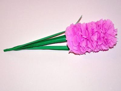 Kwiaty z bibuły - hiacynt. Tissue flowers -Hyacinth Version 2 DIY
