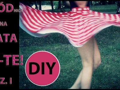 Spódnica  z koła-robimy szablony! CZ I.A circle skirt-we make patterns!DIY! PT I