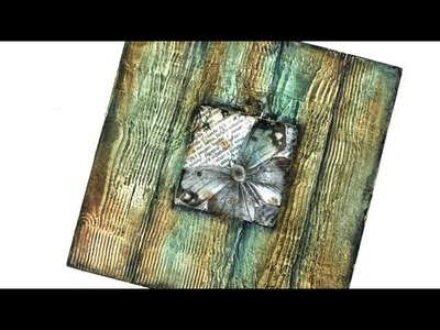 Efekt drewna - tytorial  DIY