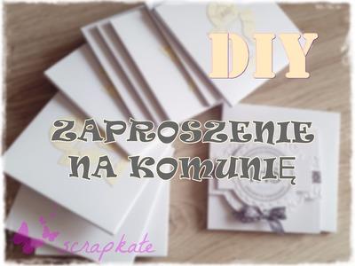 Pomysł na zaproszenie , scrapbooking, DIY