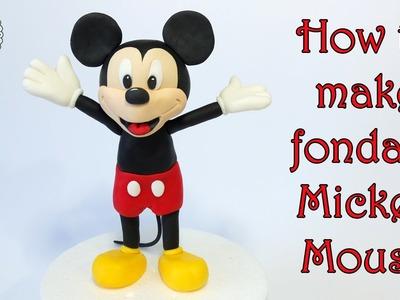 How to make fondant Mickey Mouse. Jak zrobić myszkę Miki z masy cukrowej