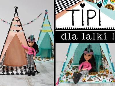 TIPI dla lalki bez szycia↠ Jak zrobić tipi↠ Zabawki DIY