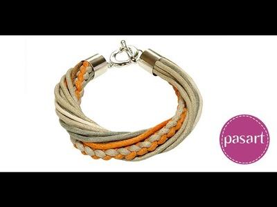 Jak zrobić bransoletkę zaplataną ze sznurków lub rzemieni - kurs DIY pasart