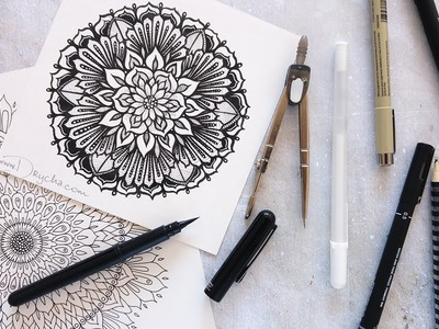Jak narysować MANDALĘ? + speed drawing