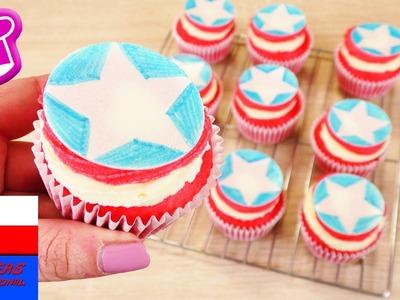 """Babeczki """"Capitan America""""   prosty pomysł na deser w barwach superbohatera kina"""