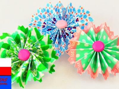 DIY Kwiatki z Washi Tape | dekoracja do kartek, magnesów i prezentów