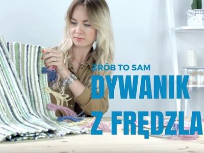 Jak w prosty sposób ozdobić zwykły dywanik? #frędzle #diy #dekoracje