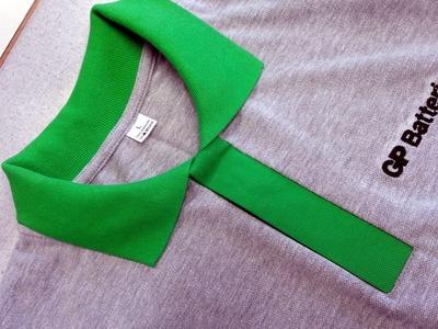 DIY Kurs szycia plisa polo koszulka z dzianiny lacosta . Sewing course polo shirt lacosta