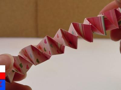 Robimy harmonijką z pasków papieru | DIY Kids | pomysły na zabawki