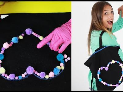 Plecak DIY z bawełnianej torby - jak zrobić plecak do szkoły?