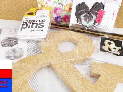 Sierpniowy Haul w TK Maxx | materiały do DIY | tablica korkowa, motylki, ozdobny papier
