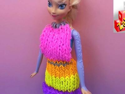 Księżniczka Elsa dostaje nową sukienkę z gumek Loom Bands - Rainbow Loom Dress