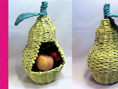 Gruszka z papierowej wikliny (Pear, wicker paper) DIY
