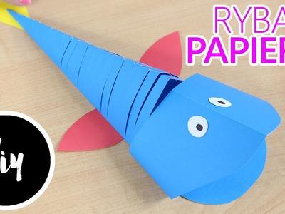 DIY - Kreatywne Czwartki - Jak wykonać Ruchomą Rybkę z Papieru?. How to make a Moving Paper Fish?