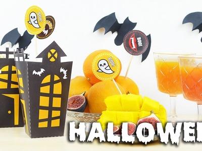 Dekoracje z papieru na Halloween DIY