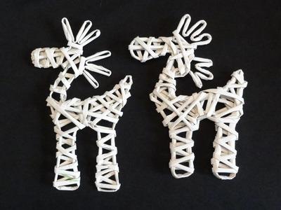 Papierowa wiklina - jak zrobić renifera z papierowej wikliny. reindeer of wicker paper