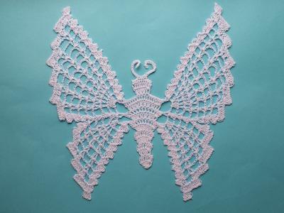 Motyl na szydełku krok po kroku motylek 1.4