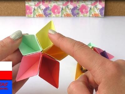 Kolorowe przegródki origami na biurko   papierowa dekoracja