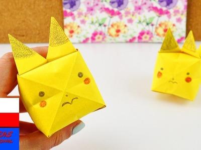 Uroczy Pikachu z Origami | składamy i malujemy Pokemona  pomysł na prezent i ozdobę