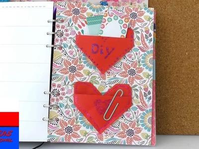 Origami | zakładki w kształcie serca do notesu i kalendarza | przegródka na naklejki i karteczki
