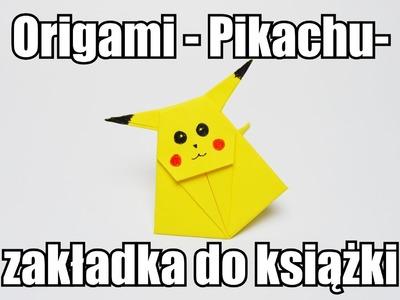 Origami - Pikachu - zakładka do książki