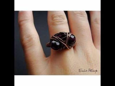 Biżuteria wire-wrapping PIERŚCIONKI